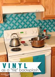 removable kitchen backsplash use removable vinyl as a backsplash tile in your kitchen