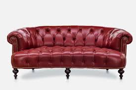 Red Leather Chesterfield Sofa by The Truman Elegant Curved Chesterfield Of Iron U0026 Oak