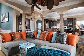 Cozy  Colorful Living Room Tropical Living Room St Louis - Colorful living room