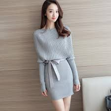 plus sweater dress autumn winter sweater dress 2018 batwing sleeve