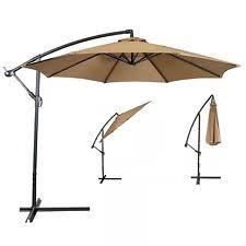 10 Ft Offset Patio Umbrella Bcp Outdoor Patio Umbrella 10 Feet Offset Sun Shade Beige Ebay