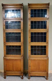 Stacking Bookcase Pair Of Narrow Minty Oak Library Stacking Bookcase Antiques Atlas