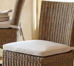 White Dining Chair Cushions Tufted Outdoor Dining Chair Cushion Solid Pottery Barn For Plan 1