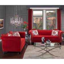 red sofa set for sale furniture of america cardinal formal traditional red sofa free