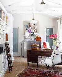 claudia benvenuto bungalow office layered rugs antique desk