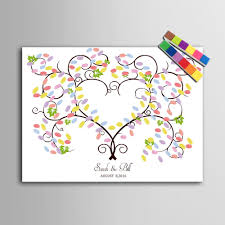 baby shower fingerprint tree 2018 canvas fingerprint tree diy signature guest book painting