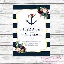 nautical bridal shower invitations nautical bridal shower invitation anchor bridal shower invitation