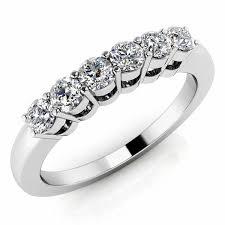 stone wedding rings images Classic 6 stone diamond wedding band anniversary ring jpg