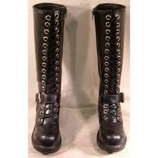 womens boots ebay womens na na 9 black knee high lace up boots ebay it