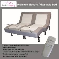 Dual Adjustable Beds King Premium Electric Adjustable Bed With Massage And Wall Hugger