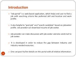 Resume Of Job Application by Job Portal