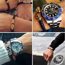 gold bracelet mens watches images Dubai gold plated skull genuine leather twin skull mens leather jpg