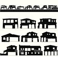 mansion clipart black and white house silhouette set stock vector art 165599336 istock