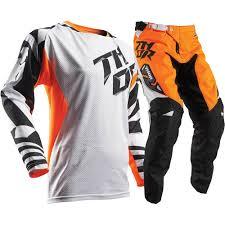 orange motocross boots thor 2017 mx new fuse air dazz white flo orange motocross gear set