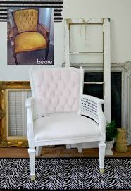 Fabric Paint For Upholstery Velvet Upholstery Painted Chair Makeover Fox Hollow Cottage