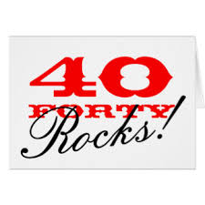 40 years young greeting cards zazzle