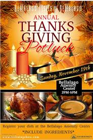 thanksgiving pot luck bellalago