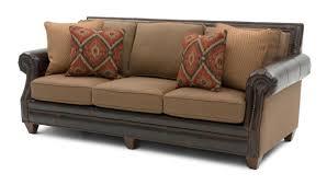 Cardigan Cinnamon LeatherFabric Sofa Weirs Furniture - Sofa in leather