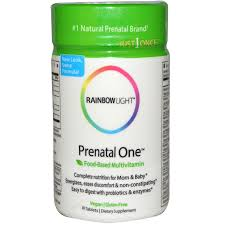 rainbow light just once prenatal one rainbow light just once prenatal one food based multivitamin 30