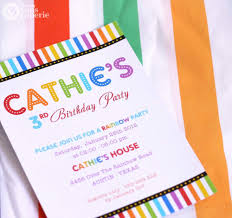 Invitation Cards Birthday Party Diy Printable Invitation Card Rainbow Birthday Party