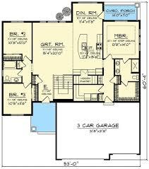 plan 89987ah craftsman with open concept floor plan simple open