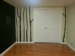 diy birch tree mural using lullaby paints lullaby paints this is the finished wall isn t it lovely it adds so much more character to the room than if it wasn t there and it was all done with a bit of