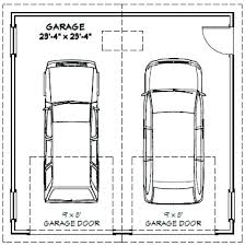 dimensions of a 2 car garage 2 car garage dimensions charming standard 2 car garage size 29 for