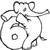 numbers 0 9 with elephants coloring pages free coloring pages
