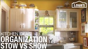 storage cabinets for kitchen at lowes kitchen organization stow vs show