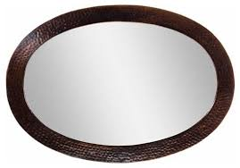 Bathroom Oval Mirrors by Copper Factory Copper Framed Oval Mirror Copper 26 1 2 X 18 1 2