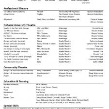 acting cv beginner acting resume example template resume cover letter