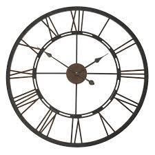 Garden Wall Clocks by Roman Numeral Wall Clock Iron Wall Clocks Decoration