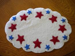 Red White And Blue Rugs 82 Best Red White Blue Wool Applique Images On Pinterest Penny
