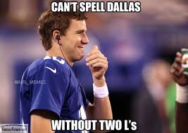 Dallas Cowboys Memes - dallas cowboys two l s meme eli manning fantasy futures nfl