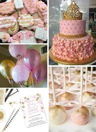 gold baby shower pink gold princess themed birthday party babies gold and