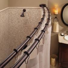 Nickel And Bronze Decorative Curtain by Shower Curtain Rod Ebay