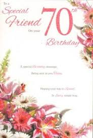 special friend on your 70th birthday birthday card amazon co uk