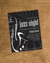 theme invitations printable birthday party invitation guitar jazz theme