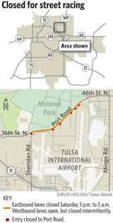 tulsa airport map tulsa city council oks permit for outlaws drag racing