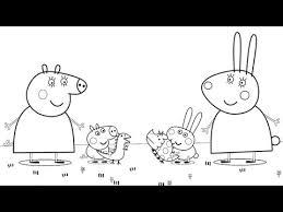 peppa pig mummy pig george pig rebecca rabbit rabbit coloring