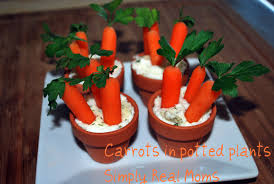 halloween party dips and appetizers easter appetizer for kids potted carrots and dip