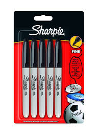 How To Get Permanent Marker Off Walls by Sharpie Fine Point Permanent Marker Black Pack Of 5 Packaging
