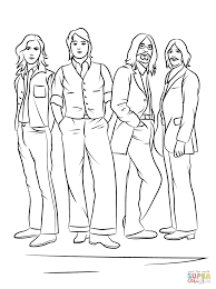 the beatles coloring page free printable coloring pages