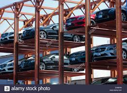 dealership usa temporary steel framed car park structure at auto dealership usa