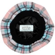 princess diana memorial rose tartan brushed wool tam lochcarron