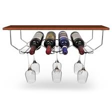 sorbus wine rack stand cabinet wine rack and glassware holder holds 6 bottles and