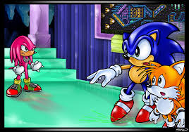 sonic and tails vs knuckles in hidden palace sonic the hedgehog
