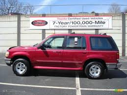 1995 vermillion red ford explorer xlt 4x4 6648365 photo 11
