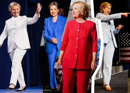 clinton supporters wore pantsuits to the polls