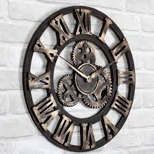 handmade large roman decorative wall clocks for living room